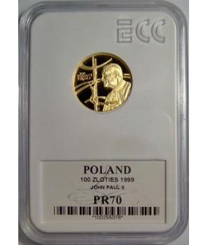 100 zł Papież Pielgrzym 1999 GCN PR70