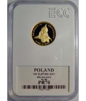 100 zł Bolesław III Krzywousty 2001 GCN PR70