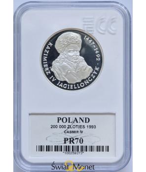 200 000 zł Kazimierz Jagiellończyk popiersie 1993 GCN PR70