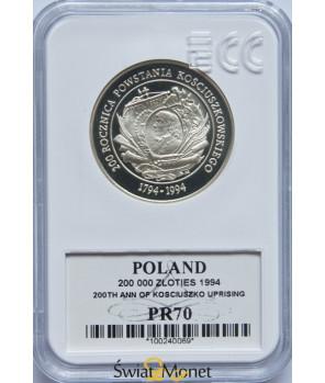 200 000 zł Powstanie Kościuszkowskie 1994 GCN PR70