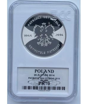 20 zł Patrioci 1944 Obywatele 2014 GCN PR70