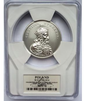 50 zł Skarby Stanisława Augusta – Ludwik Węgierski 2014 GCN PR70