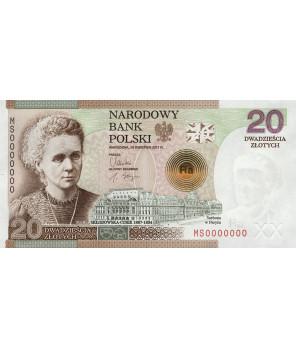20 zł 100 rocznicą przyznania Nagrody Nobla Marii Skłodowskiej-Curie 2011