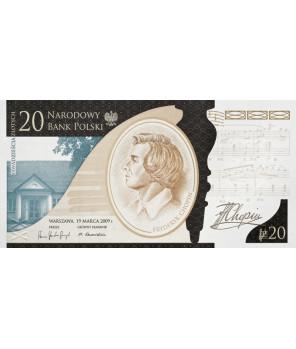 20 zł 200. rocznica urodzin Fryderyka Chopina 2010