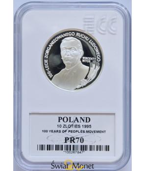 10 zł Wincenty Witos 1995 GCN PR70