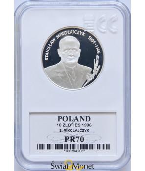 10 zł Stanisław Mikołajczyk 1996 GCN PR70