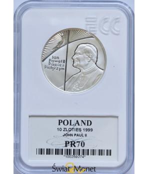 10 zł Jan Paweł II papież pielgrzym 1999 GCN PR70