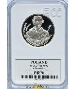10 zł Juliusz Słowacki 1999 GCN PR70