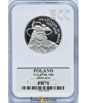 10 zł Władysław IV Waza popiersie 1999 GCN PR70