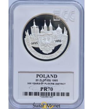 20 zł 500 lat województwa płockiego 1995 GCN PR70