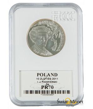 10 zł Ignacy Jan Paderewski 2011 GCN PR70