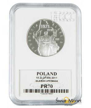 10 zł Powstania Śląskie 2011 GCN PR70