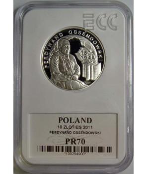 10 zł Ferdynand Ossendowski 2011 GCN PR70