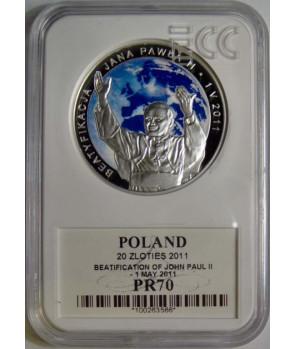20 zł Beatyfikacja Jana Pawła II 2011 GCN PR70