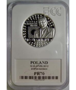 10 zł Stefan Banach 2012 GCN PR70