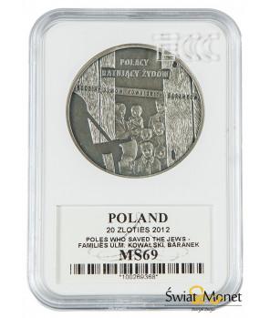 20 zł Polacy ratujący Żydów 2012 GCN PR70