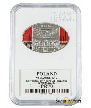 10 zł 100 lat Teatru Polskiego w Warszawie 2013 GCN PR70