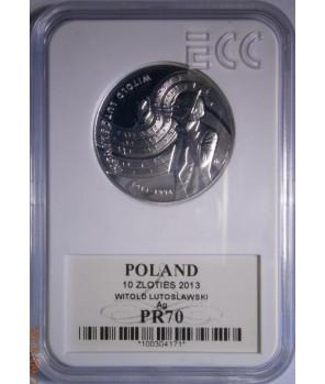 10 zł Witold Lutosławski 2013 GCN PR70