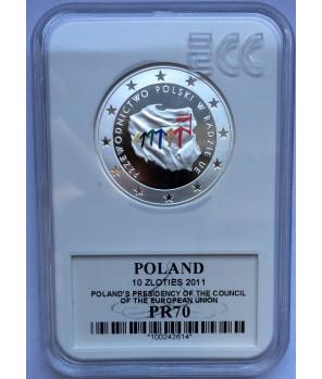 10 zl Przewodnictwo Polski w Radzie UE 2011 GCN PR70