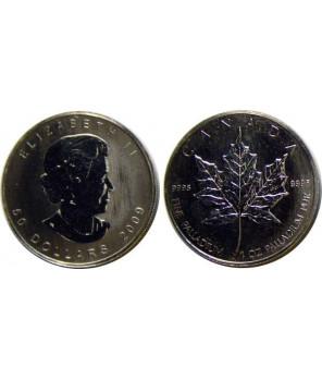KANADA 50 DOLARÓW 2009 - PALLAD
