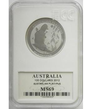 AUSTRALIA 100$ DZIOBAK PLATYNA UNCJA (D21)