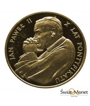 10 000 zł Jan Paweł II X lat pontyfikatu 1988 st. zwykły