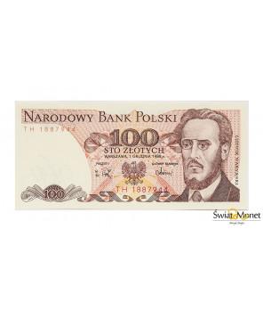 100 zł Ludwik Waryński 1988 seria TH UNC
