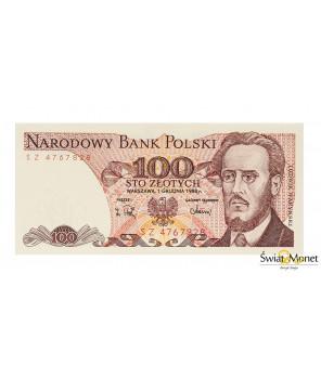 100 zł Ludwik Waryński 1988 seria SZ UNC