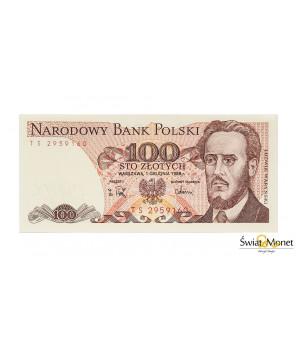 100 zł Ludwik Waryński 1988 seria TS UNC