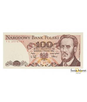 100 zł Ludwik Waryński 1988 seria TE UNC