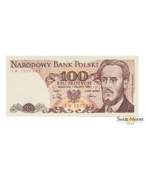 100 zł Ludwik Waryński 1988 seria SW UNC