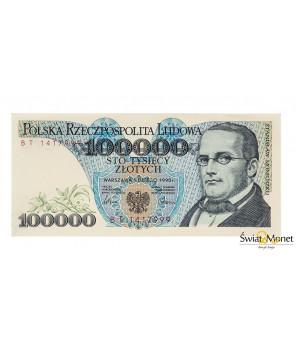 100 000 zł Moniuszko 1990 seria BT UNC