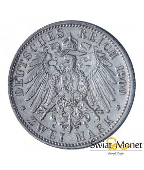 2 marki 1900 Wilhelm II Niemcy Prusy