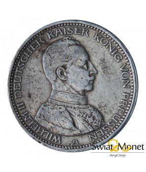 5 marek 1913 A Wilhelm II mundur Prusy