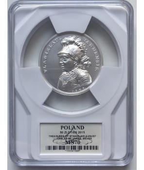 50 zł Skarby Stanisława Augusta – Władysław Warneńczyk 2015 GCN PR70