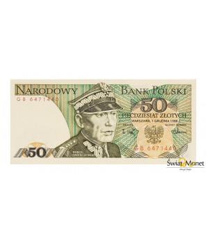 50 zł Karol Świerczewski 1988 seria GB UNC