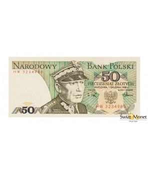 50 zł Karol Świerczewski 1988 seria HW UNC
