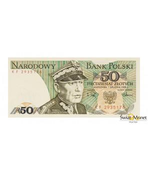 50 zł Karol Świerczewski 1988 seria KF UNC