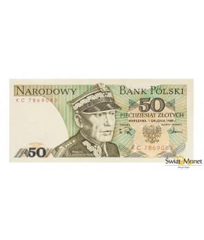50 zł Karol Świerczewski 1988 seria KC UNC