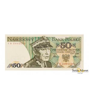 50 zł Karol Świerczewski 1986 seria FB UNC