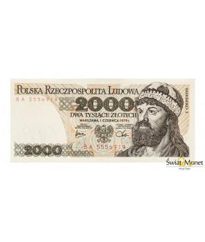 2000 zł Mieszko I 1979 seria BA UNC