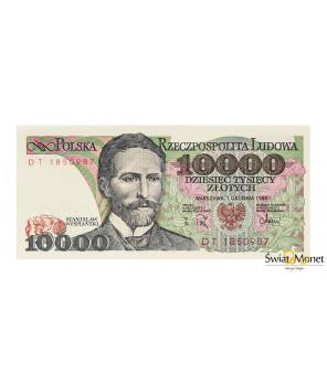10 000 zł Stanisław Wyspiański 1988 seria DT UNC