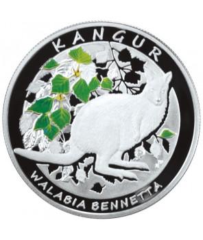 Zestaw 2 monet - 20 złotych + 1$ Australia Kangur