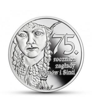 Moneta 10 zł 75. rocznica zagłady Romów i Sinti