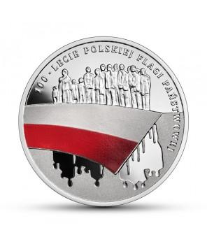 Moneta 10 zł 100-lecie polskiej flagi państwowej