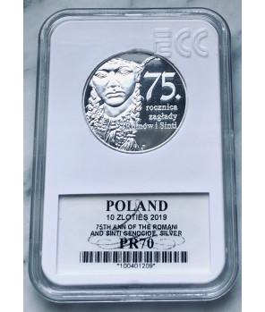 10 zł 2019  75. rocznica zagłady Romów i Sinti GCN PR70