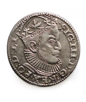 POLSKA , TROJAK 1589 Ryga II/II+