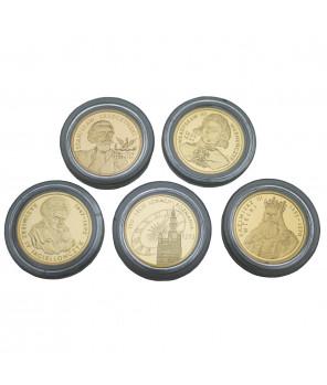 Zestaw złotych monet kolekcjonerskich 100 zł - 5 sztuk