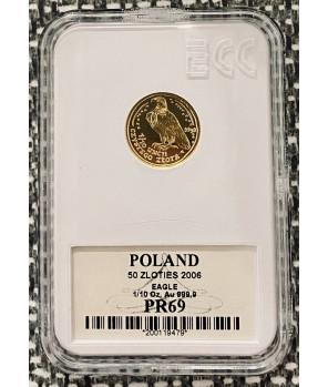 Złota moneta Orzeł Bielik 50 zł 2006