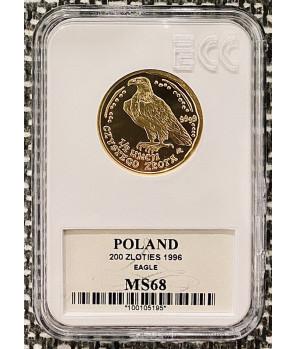 Złota moneta Orzeł Bielik 200 zł 1996